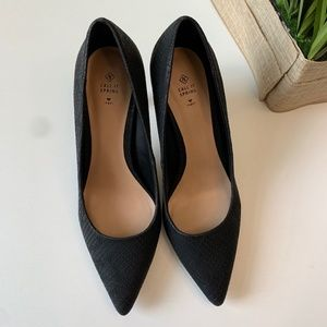 Call it Spring Eclipse Black Animal Texture Pumps